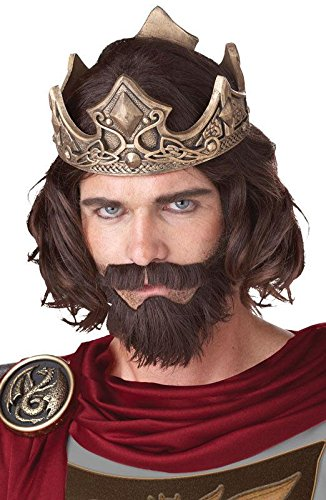 Medieval King Wig Costume Accessory ()