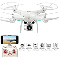 Rucan Wide Angle Lens HD Camera Quadcopter RC Drone WiFi FPV Live Helicopter Hover (C)
