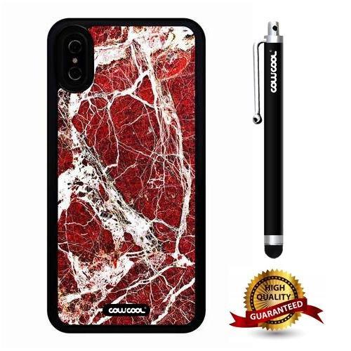premium selection e4f35 623c0 Amazon.com: iPhone X Case, Marble Pattern Case, Cowcool Ultra Thin ...