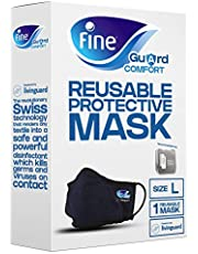 Fine Guard Comfort Adult Face Mask With Livinguard Technology, Infection Prevention – Size Large