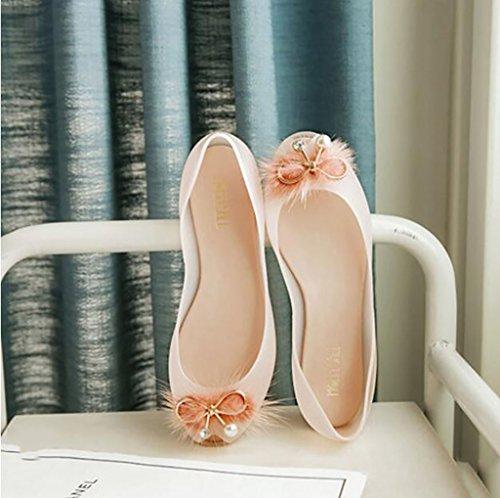 Women's shoes, flat comfortable women's sandals, non-slip sandals, transparent crystal shoes, hollow fashion jelly shoes Flat Sandals,Fashion sandals (Color : B, Size : 36) B