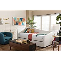 Baxton Studio Vera Faux Leather Twin Daybed in White