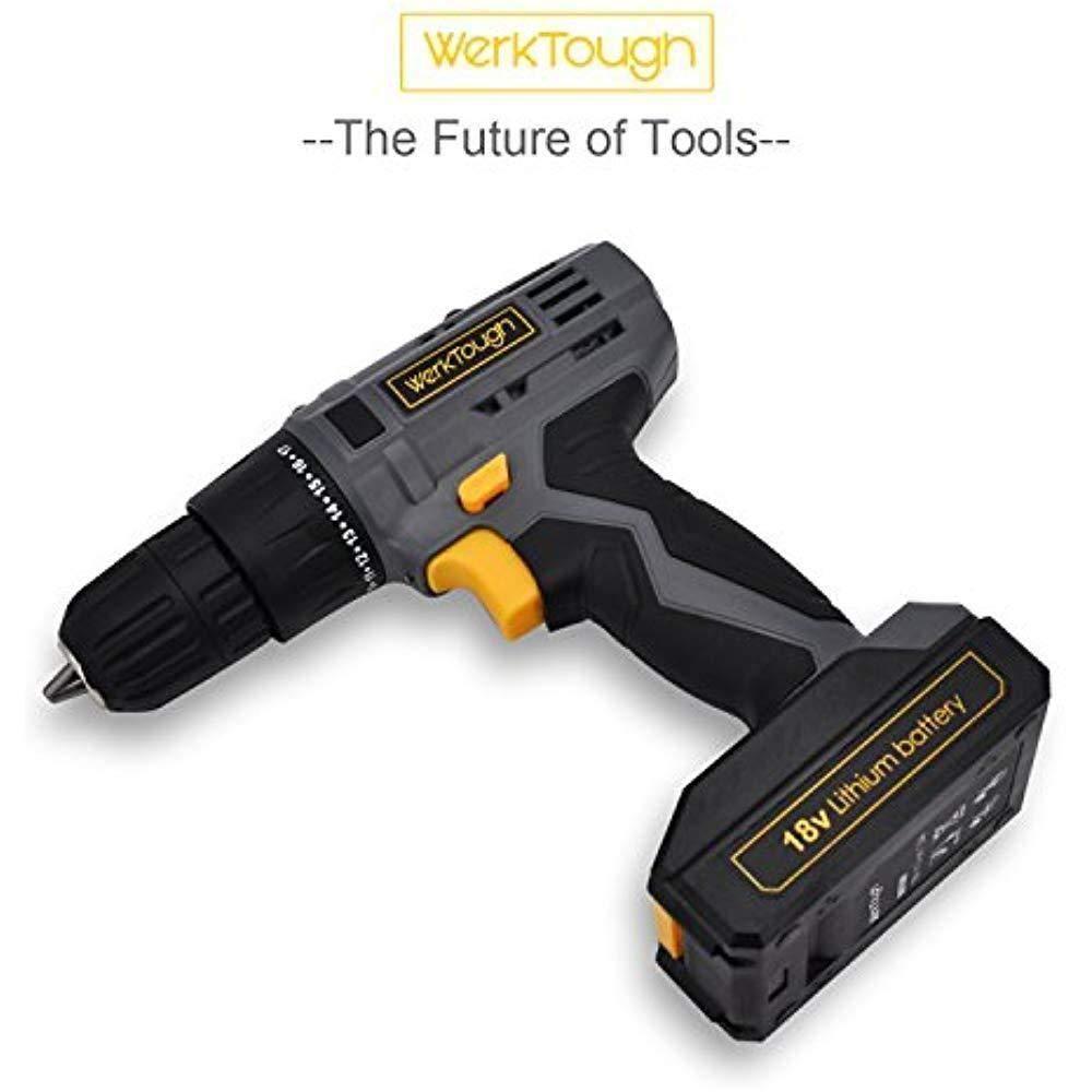 Toolman Cordless Drill Screwdriver 20V 2 speed powerful torque w/drill and Bits works with DeWalt Makita Ryobi by Toolman 47 (Image #3)