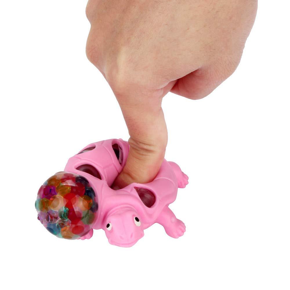 Spongy Bead Rainbow Ball Relief Schildkr/öte Squishies Langsam Steigende Squeeze Toys Duft Stressabbau Spielzeug Rosa Bescita Stressabbau-Spielzeug 9x5x5cm