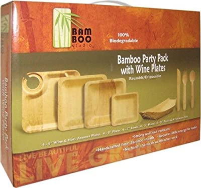 Bamboo Studios Wine Party Plate Pack