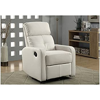 Monarch Bonded Leather Swivel Glider Recliner White  sc 1 st  Amazon.com : leather swivel glider recliner - islam-shia.org