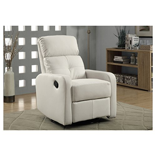 Monarch Bonded Leather Swivel Glider Recliner, (Contemporary Bonded Leather)