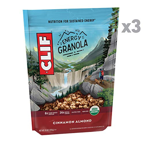 Clif Energy Granola - Organic, Gluten Free Nutrition - Cinnamon Almond - (10 Ounce Bag, 3 Count)