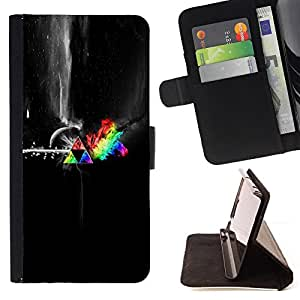 Jordan Colourful Shop - Abstract Space Colors For Apple Iphone 6 PLUS 5.5 - Leather Case Absorci???¡¯???€????€?????????&At