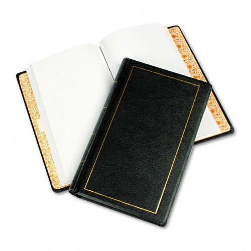 Wilson Jones : Looseleaf Minute Book, Black Leather-Like Cover, 125 Pgs, 8 1/2 x 14 -:- Sold as 2 Packs of - 1 - / - Total of 2 Each