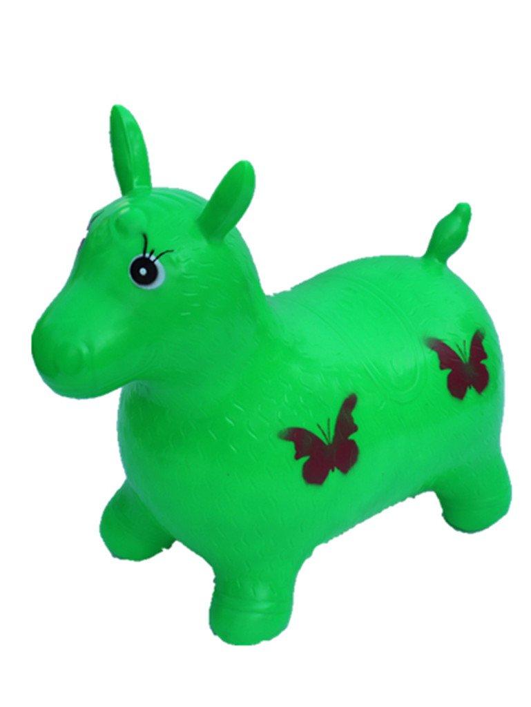 Verde caballo hinchable para niños, L & H de muñeca ...