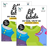 lil clothing - Lil' Labels Clothing, Write on Name, No Iron, Washer & Dryer Safe, Kids for Daycare & School, Plus 2 Bonus Gifts, Set Of 2