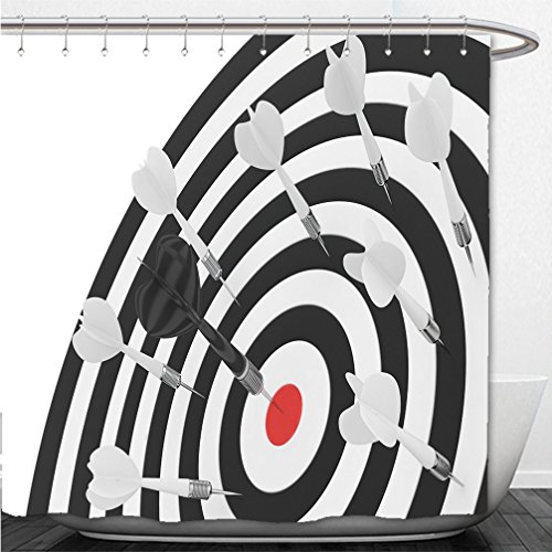 Interestlee Shower Curtain darts board with red center on white background d rendering 533298172 Magnetic Dartboard Nfl Darts