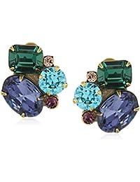 Cluster Clip-On Earrings