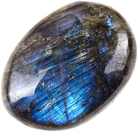 L04 Labradorite Palm Stone Tumble Polished Laboradite