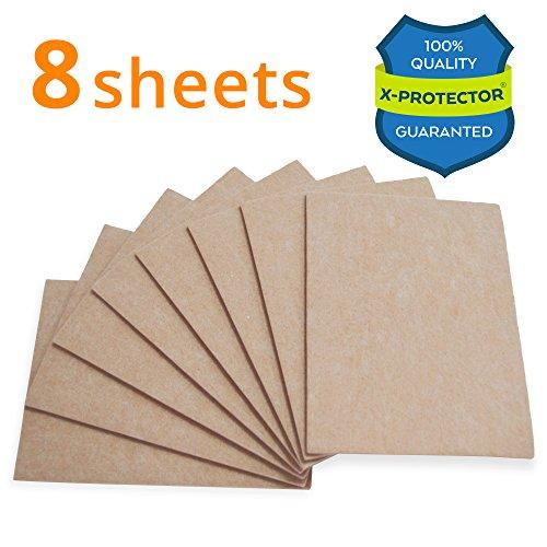 "X-PROTECTOR 8 Pack Premium Felt Furniture Pads 8""x6"" HEAVY DUTY 1/5"" Felt Sheets! Cut Furniture Felt Pads for Furniture Feet You Need – Best Furniture Pads For Hardwood Floors Protection!"
