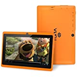 Vuru A33 8GB Quad-Core Touchscreen Android Tablet 7 inch with Wi-Fi - Runs Android OS 4.4 - Features Front & Rear Cameras, Bluetooth, 1024 x 600 Resolution & Rechargeable 3000mAh Battery - Orange