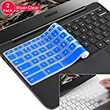 [2 Pack] Samsung chromebook 3 Keyboard Cover Skin for Samsung Chromebook 11.6' Chromebook 2 XE500C12, Samsung Chromebook 3 XE500C13,Samsung Chromebook Plus V2 2-in-1 XE520QAB 12.2(Clear and Blue)