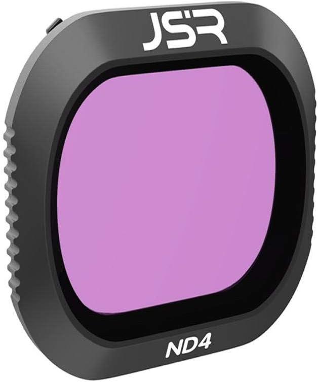 Vacally Black 5pcs Pro Lens Filter Set Camera Filter Lens Set UV CPL ND4 ND8 ND16 Kit for DJI Mavic 2 PRO Drone Camera Made of ABS Material