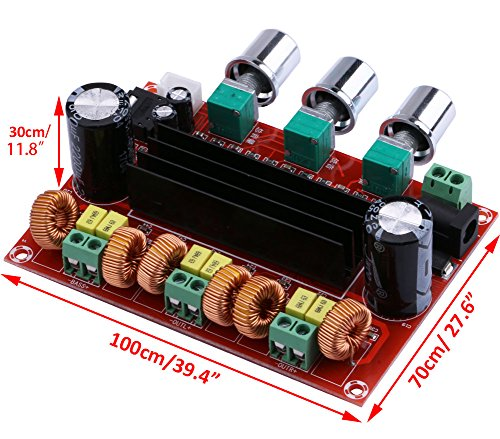 Audio Amplifier Board, Yeeco 2 1 Channel 2x80W+100W Digital