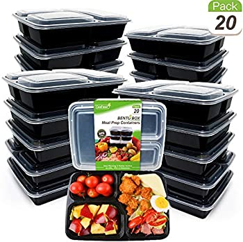 CooFood 20-Pack Anti-Spill Food Storage Container for Microwave Freezer