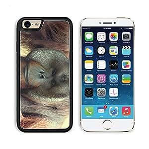 Monkey Face Animal Zoo Nature 3DArt Iphone 6 Snap Cover Premium Aluminium Design Case Customized Made to Order