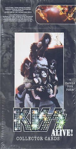 Alive Trading Cards - NECA KISS Alive! Trading Card Collector Pack Box 36 Packs per box 7 Cards per Pack