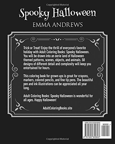 Adult Coloring Books Spooky Halloween Emma Andrews 9781522845843