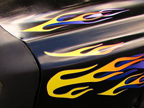 Layered Flame Decals - Banana & Grape for riding lawn mower tractor golf cart - 10pc. - Images Hot Websites