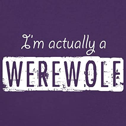 Kids Hoodie Dressdown Im Actually A Werewolf 1-13 Years 9 Colours