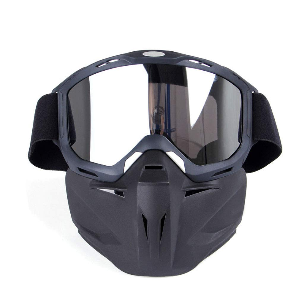 SX Goggles Mask Motorcycle Glasses, Off-Road Windproof Goggles Outdoor Sports Equipment (Color : Mercury)