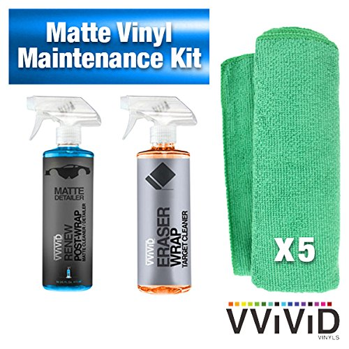 VViViD Detailer Vinyl Car Wrap Tool-Kit (Matte Wrap Maintenance Kit)