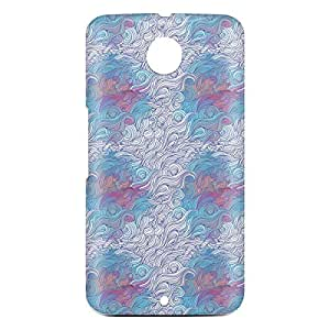Loud Universe Motorola Nexus 6 3D Wrap Around Hair Print Cover - Multi Color