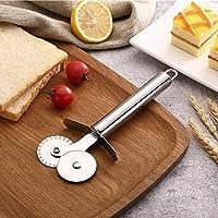 Wuudi Kitchen supply taglia pizza in acciaio INOX doppio rullo ruote da pizza cutter Kitchen baking Tool