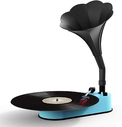 Amazon.com: Reproductor de grabación VMO con cuerno Azul ...