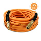 DuraDrive 1/4-Inch x 50-Feet Premium Hybrid Polymer Air Hose with Swivel Fitting, Maximum Working Pressure of 300-PSI
