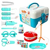 ETbotu Pretend Play 15 Pcs Toddlers Dentist Role Play Set Doctor Kit with Carry Case for School Classroom, Doctor Roleplay Costume Dress-Up