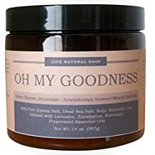 Oh My Goodness DETOX Bath Salts / All Natural Seaweed-Mineral Bath Soak Blend / Organic Essential Oils of Eucalyptus, Lavender, Rosemary, Peppermint / Cleanse the Body, Relax Muscles and Rejuvenate