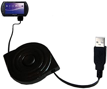 USB Power Port Ready retractable USB charge USB cable wired specifically for the Sony PSP-1001 Playstation Portable and uses TipExchange