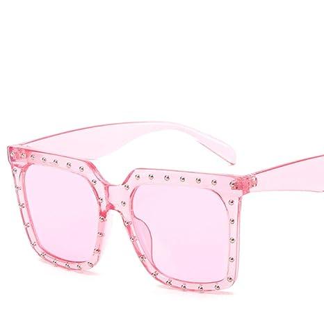 Yangjing-hl Moda Gafas de Sol cuadradas Personalidad Red ...