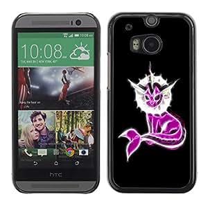 Be Good Phone Accessory // Dura Cáscara cubierta Protectora Caso Carcasa Funda de Protección para HTC One M8 // Neon Pink Fantasy Narwhal