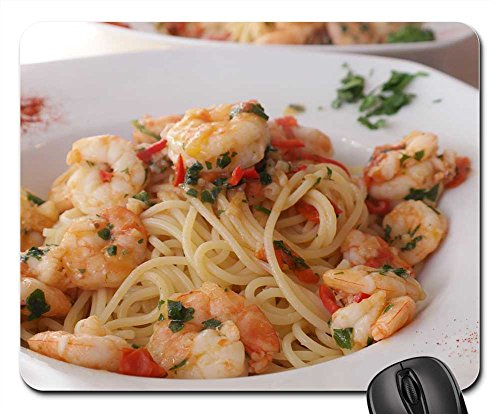 (Mouse Pads - Spaghetti Pasta Noodles Food Eat Cook Plate)
