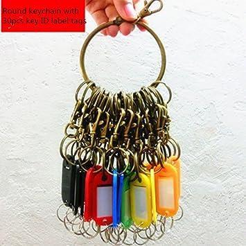 Amazon.com: Nument - Llavero de metal con 10 anillos, diseño ...
