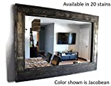 Renewed Décor Herringbone Reclaimed Wood Mirror in 20 stain colors – Large Wall Mirror – Rustic Modern Home – Home Decor – Mirror – Housewares – Woodwork – Frame – Stained Mirror Review