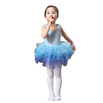 YONGMEI Ropa De Rendimiento para Niños- Vestido Niña-Ballet ...