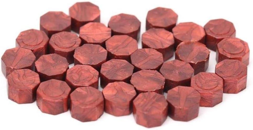 100pcs//bag Vintage Sealing Wax Tablet Pill Beads Octagon Wax Seal Stamp for Envelope Wedding Party Stamping Grain Sealing Wax,Light Pink