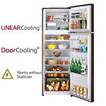LG 360 L 3 Star with Inverter Double Door Refrigerator (GL-T402JRS3, Russet Sheen)