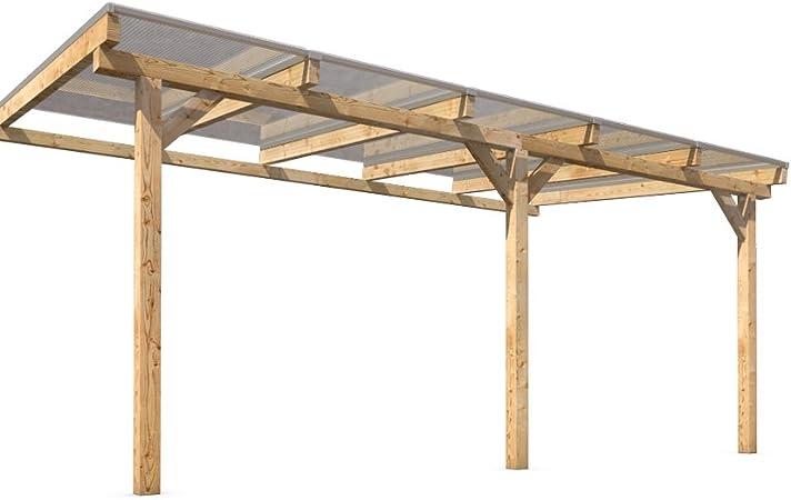 Techo de madera para terraza (500 x 300 cm): Amazon.es: Jardín