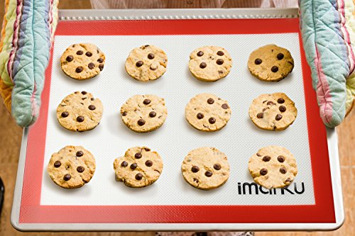 iMarku Silicone Baking Mat Set of 2 ,Non-Stick,Heat Resistant, Durable Silicon Liner for Bake Pans by iMarku (Image #3)'