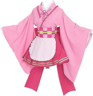 Amazon Com Demon Slayer Kanroji Mitsuri Kimono Cosplay Costume Maid Lolita Dress Skirt Suit Clothing She is also a demon slayer and the love hashira (恋 (こい) 柱 (ばしら) koi bashira?) of the demon slayer corps. demon slayer kanroji mitsuri kimono